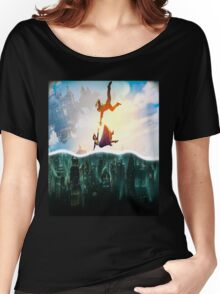 Bioshock Two Worlds Collide Women's Relaxed Fit T-Shirt