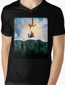 Bioshock Two Worlds Collide Mens V-Neck T-Shirt