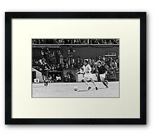Retro Soccer 7 - old time TV Framed Print