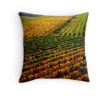 Golden vineyard  Throw Pillow
