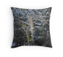 Falling Snow Throw Pillow