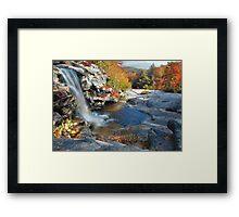 Spencer Falls In Autumn Framed Print