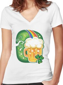 Clover - St Patricks Day Women's Fitted V-Neck T-Shirt