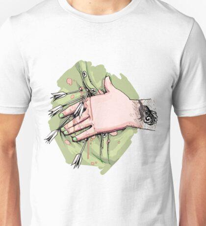 White dart design Unisex T-Shirt