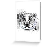 White bear Greeting Card