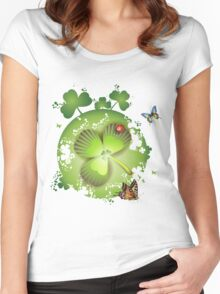 Clover - St Patricks Day Women's Fitted Scoop T-Shirt
