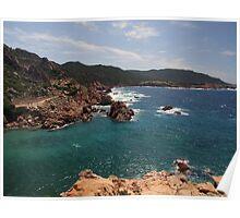 Sardinian coastline Poster