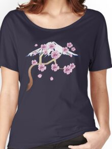 Cherry Blossoms and Mt. Fuji Women's Relaxed Fit T-Shirt