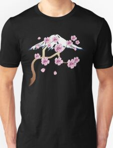 Cherry Blossoms and Mt. Fuji Unisex T-Shirt