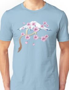 Cherry Blossoms and Mt. Fuji Unisex T-Shirt