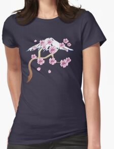Cherry Blossoms and Mt. Fuji Womens Fitted T-Shirt