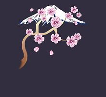 Cherry Blossoms and Mt. Fuji Mens V-Neck T-Shirt