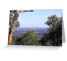 Perth from the hills Greeting Card