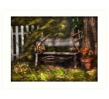 A seat for a little guy  Art Print