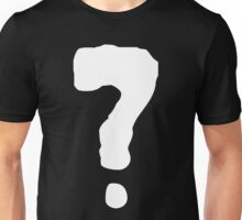 BLACK AND WHITE QUESTION MARK Unisex T-Shirt