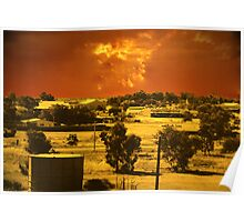 Dust storm approaching Cue Poster