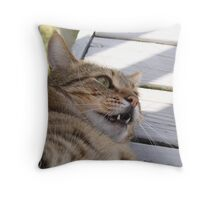 Not Happy!!! Throw Pillow