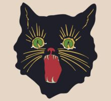 vintage 60's halloween cat design  by colorpress