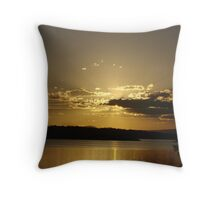 Golden Ray Sunset Throw Pillow