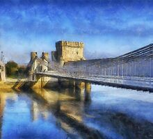 Conwy Suspension Bridge by Ian Mitchell