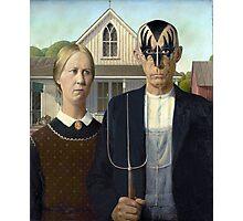 American Gothic Kiss Photographic Print
