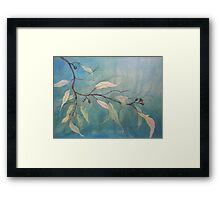 Watercolour: Gum leaves ethereal Framed Print