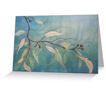 Watercolour: Gum leaves ethereal Greeting Card