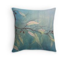 Watercolour: Gum leaves ethereal Throw Pillow