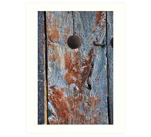 Old door - Camino de Santiago Art Print