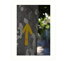 Arrows guide the way on the Camino de Santiago Art Print