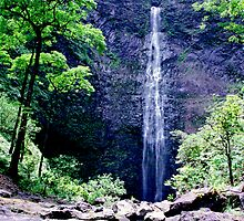 Hanakapiai Falls by kevin smith  skystudiohawaii