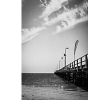 Jetty in Black and White Photographic Print