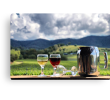 White port and red wine Canvas Print