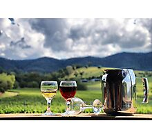 White port and red wine Photographic Print