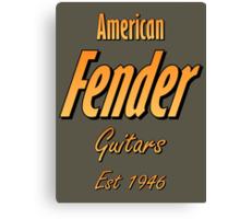American Fender Est 1946 Canvas Print