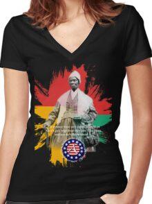 sojourner truth Women's Fitted V-Neck T-Shirt