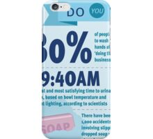 Wee at Work Infographic  iPhone Case/Skin