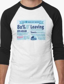 Wee at Work Infographic  Men's Baseball ¾ T-Shirt