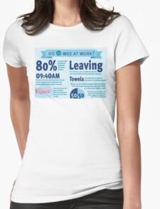Wee at Work Infographic  Womens Fitted T-Shirt