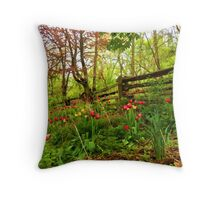 Fresh and Colorful Hillside - Impressions Of Spring Throw Pillow