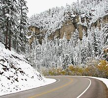 Around The bend - Winter Scenery Spearfish Canyon by WILDBRIMOWILDMAN