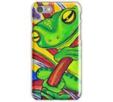 Vivid Green Tree Frog iPhone Case/Skin