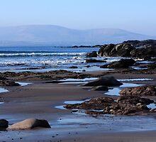 Rock Ponds On Sandy Beach by aidan  moran