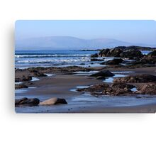 Rock Ponds On Sandy Beach Canvas Print