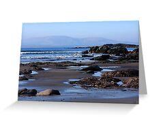Rock Ponds On Sandy Beach Greeting Card