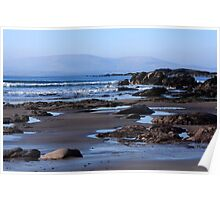 Rock Ponds On Sandy Beach Poster