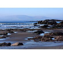 Rock Ponds On Sandy Beach Photographic Print