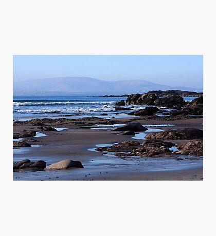 Rock Ponds On Sandy Beach Photographic Print