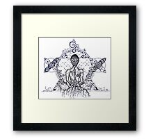 I am Earth Framed Print