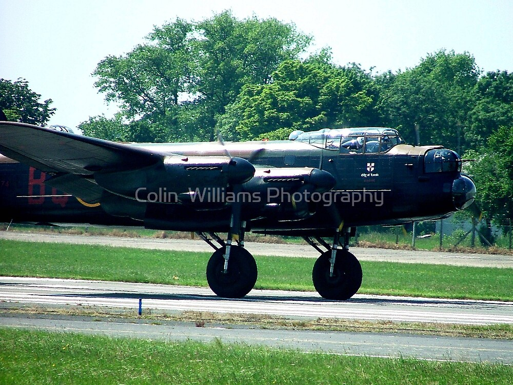 Lancaster Rumbles Down the Runway at Biggen Hill by Colin  Williams Photography